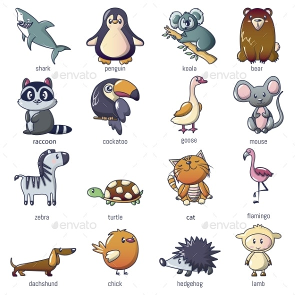 Animals Icons Set - Animals Characters