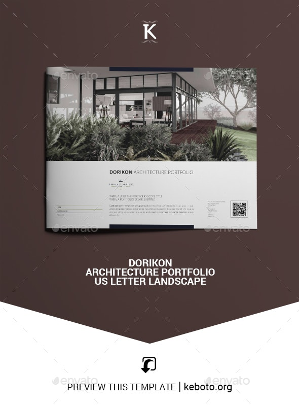 Dorikon Architecture Portfolio US Letter Landscape - Portfolio Brochures