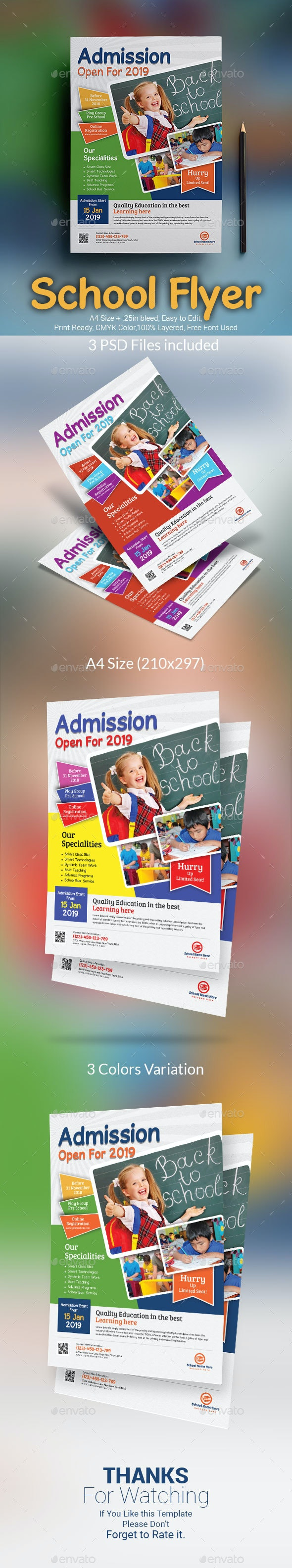 School Admission Flyer - Corporate Flyers