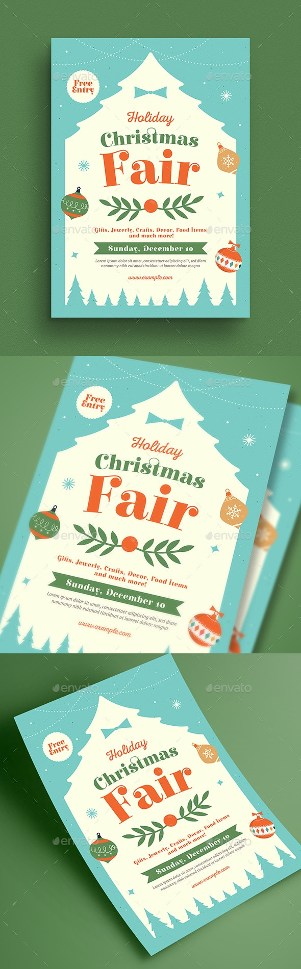 Holiday Christmas Fair Flyer - Holidays Events