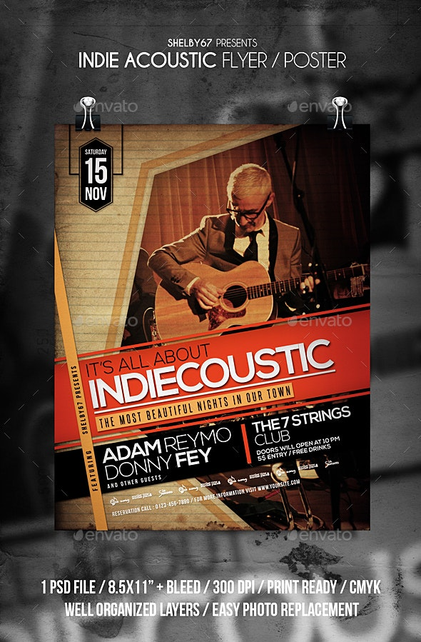 Indie Acoustic Flyer / Poster - Events Flyers