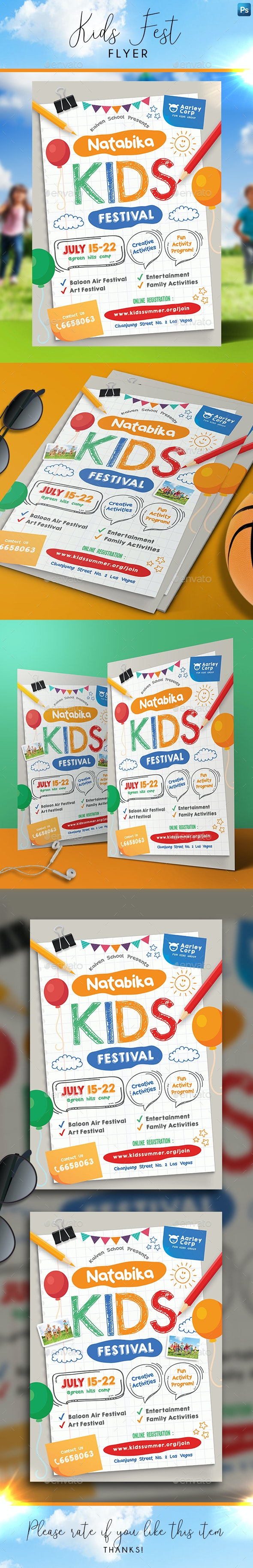 Kids Festival Flyer - Holidays Events