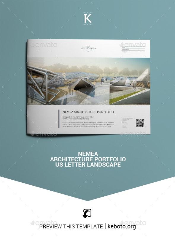 Nemea Architecture Portfolio US Letter Landscape - Portfolio Brochures