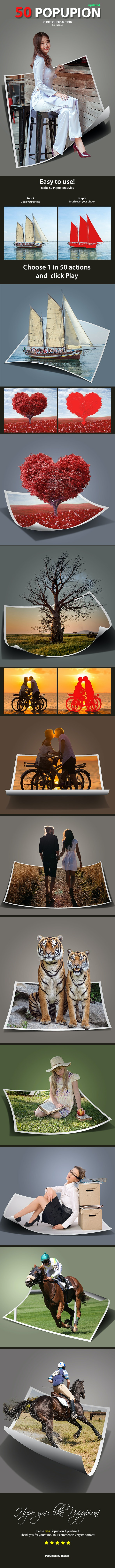 50 Popupion - Photo Effects Actions
