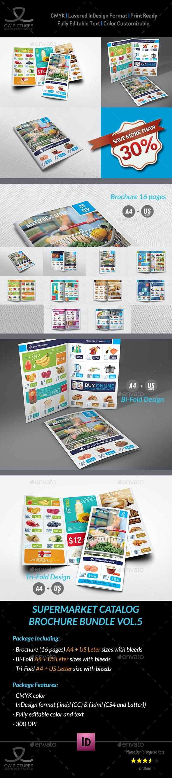 Supermarket Catalog Brochure Bundle Template Vol.5 - Catalogs Brochures