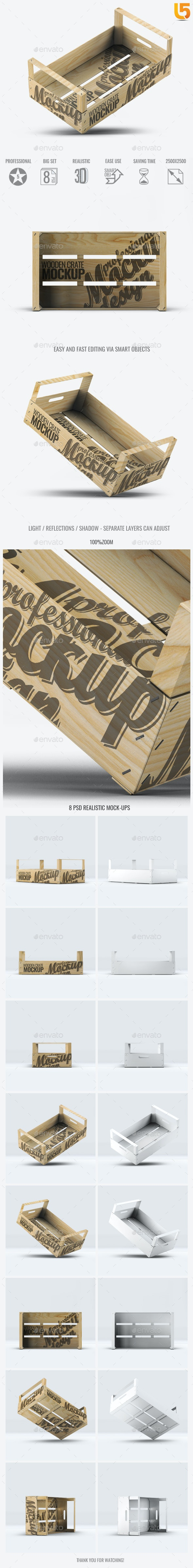 Wooden Fruit Crate Mock-Up - Food and Drink Packaging