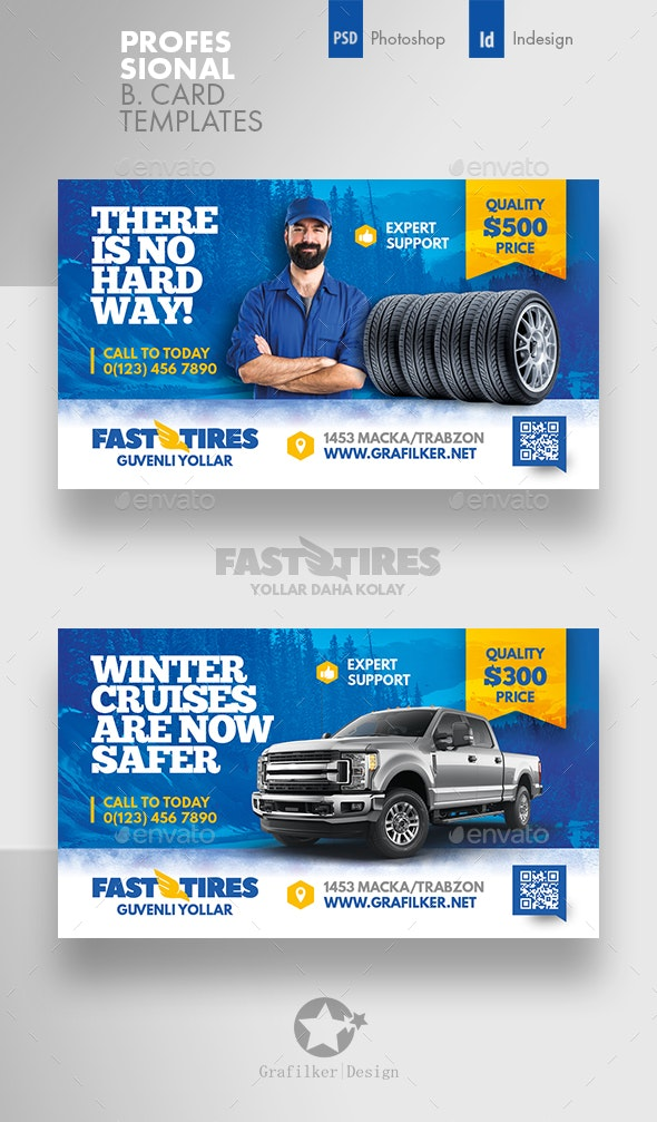 Auto Tires Business Card Templates - Corporate Business Cards