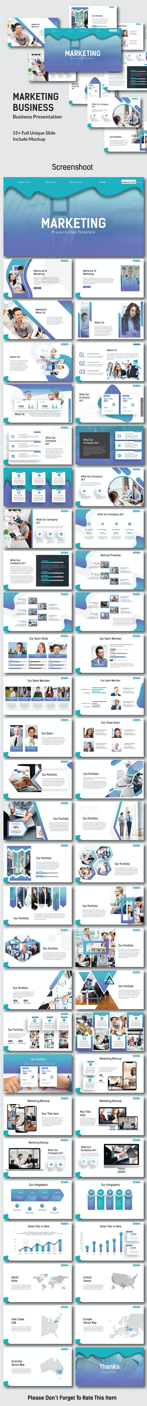 Marketing Business - Keynote Template - Keynote Templates Presentation Templates