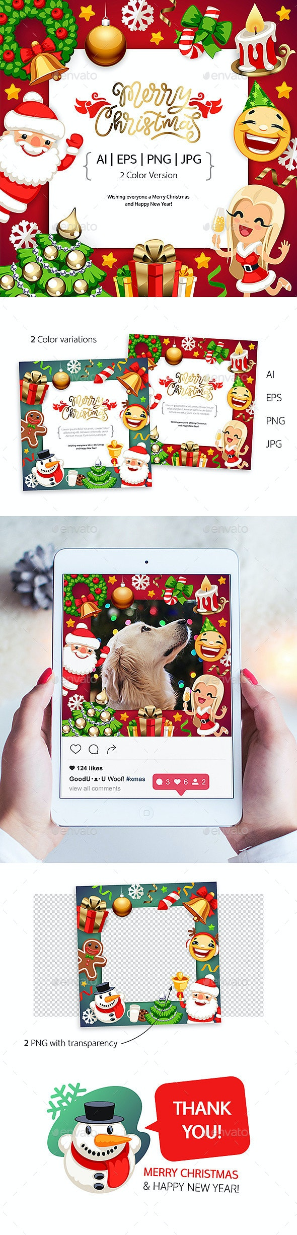 Merry Christmas Background with Copy Space - Christmas Seasons/Holidays