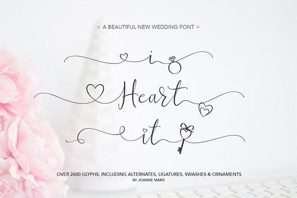 Wedding font - iHeartit - Calligraphy Script