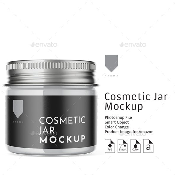 Cosmetic Glass Jar Mockup 2