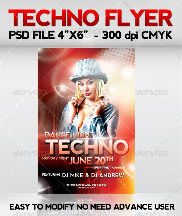 Techno Flyer - Clubs & Parties Events