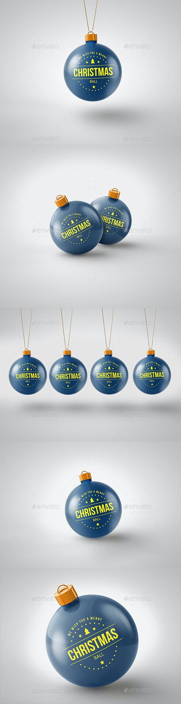 Christmas Ball Mockup - Print Product Mock-Ups