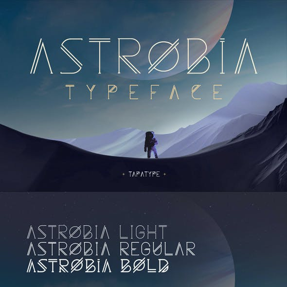 ASTROBIA - Futuristic Font Family