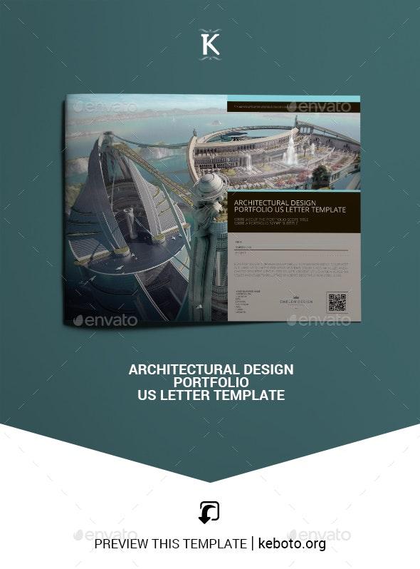 Architectural Design Portfolio US Letter Template - Portfolio Brochures