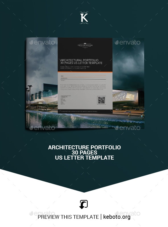 Architecture Portfolio 30 Pages US Letter Template - Portfolio Brochures
