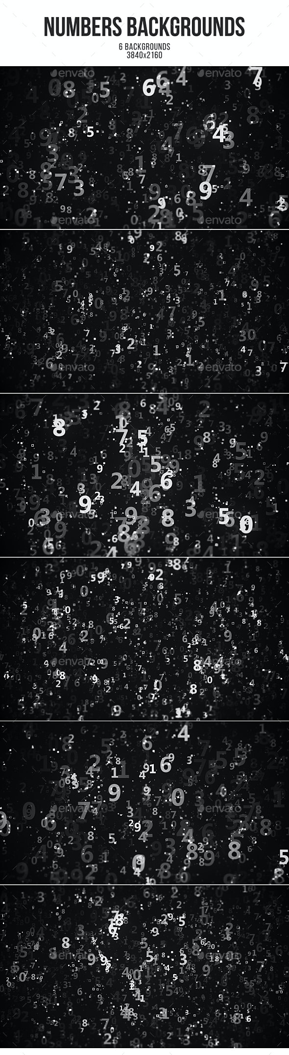 Numbers Backgrounds - Abstract Backgrounds