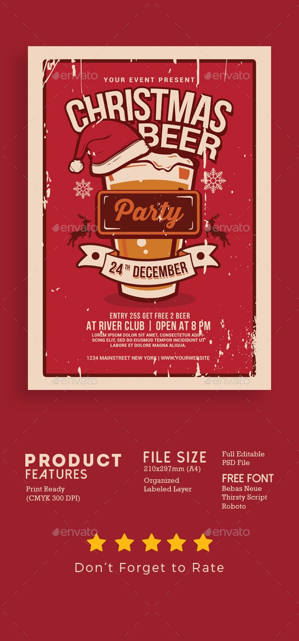 Christmas Beer Party - Events Flyers
