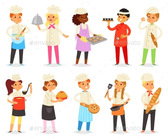 Cooking Child Vector - People Characters