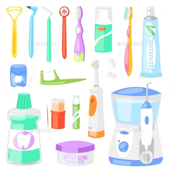 Toothbrush Vector Dental Hygiene - Health/Medicine Conceptual