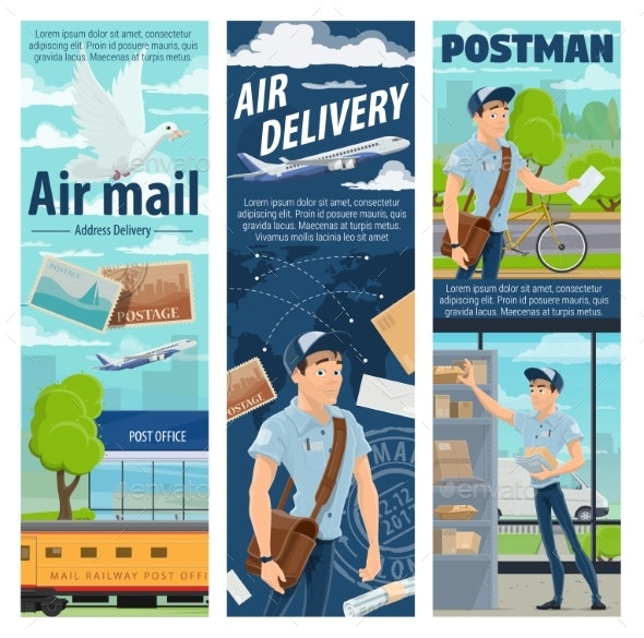 Post Air Mail Delivery Service - Services Commercial / Shopping