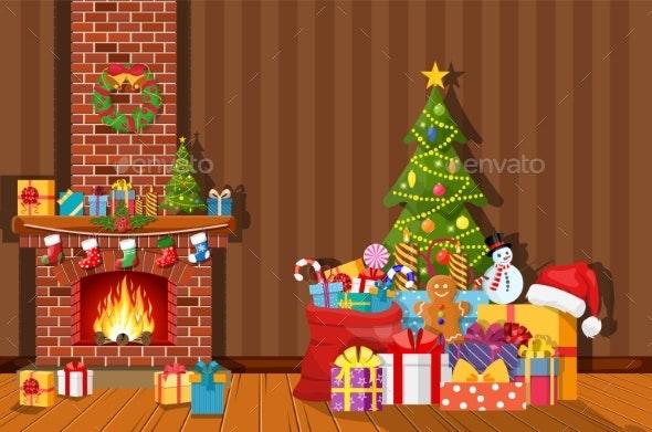Christmas Interior of Room - Christmas Seasons/Holidays