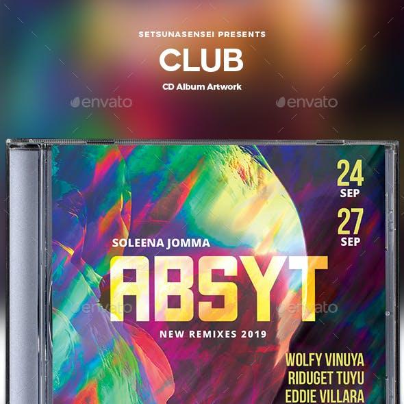 Club CD Album Artwork