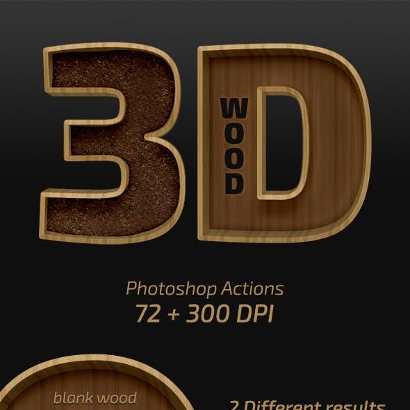 3D Wood Actions