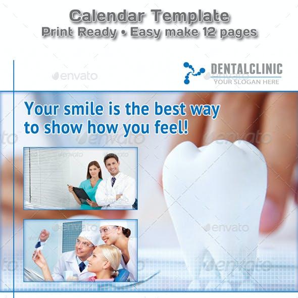 Medical or Dental Clinic Calendar 2019 Template