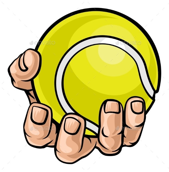 Hand Holding Tennis Ball - Sports/Activity Conceptual