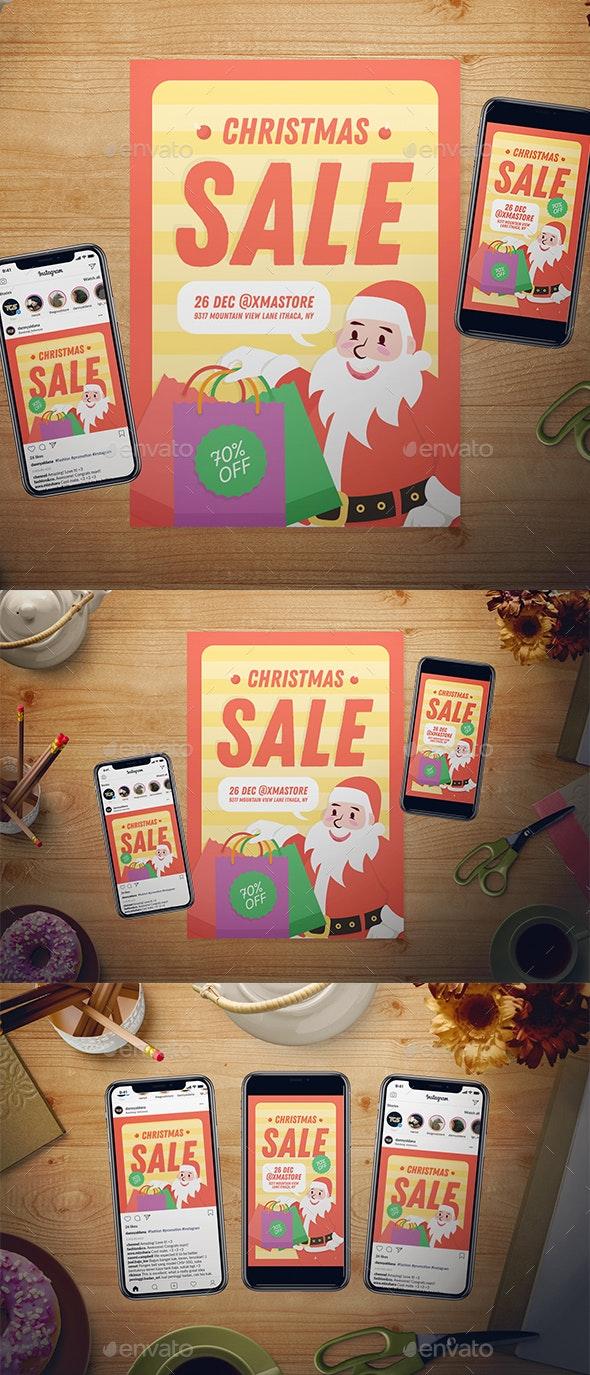 Christmas Sale Flyer Set - Holidays Events
