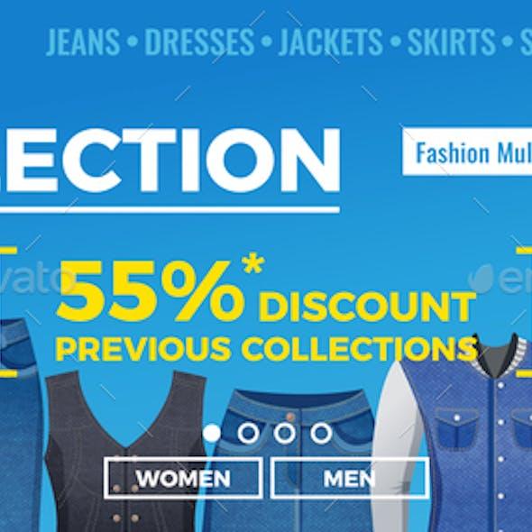 Denim Clothing Web Banner