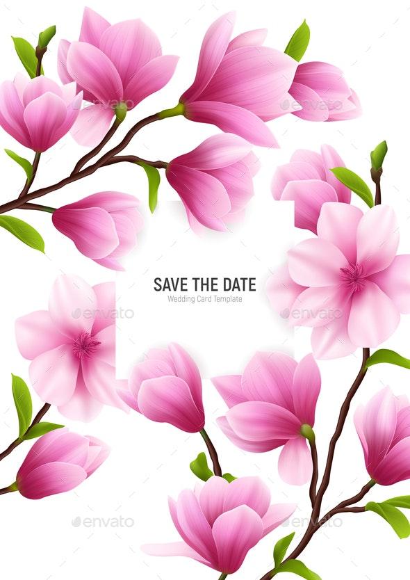 Realistic Magnolia Flower Frame - Flowers & Plants Nature