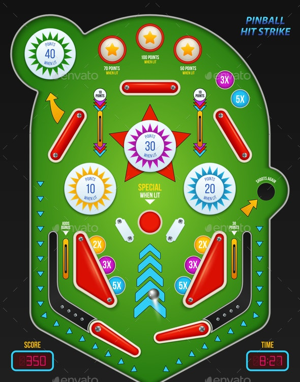 Realistic 3d Pinball Composition - Miscellaneous Vectors