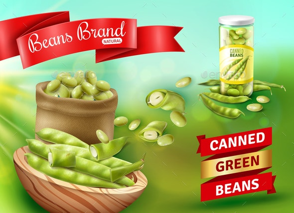 Green Beans Poster - Food Objects
