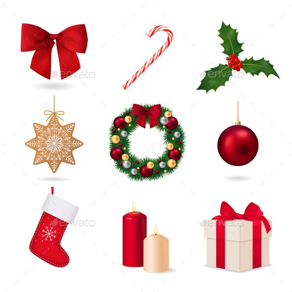 Elements Of Christmas Collection - Miscellaneous Vectors
