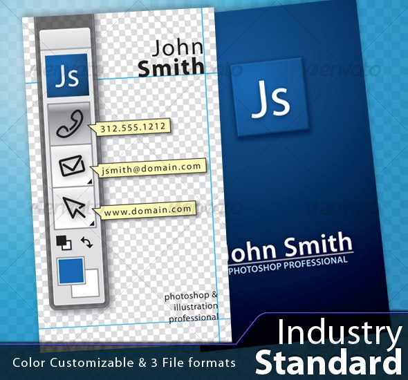 Industry Standard - Real Objects Business Cards
