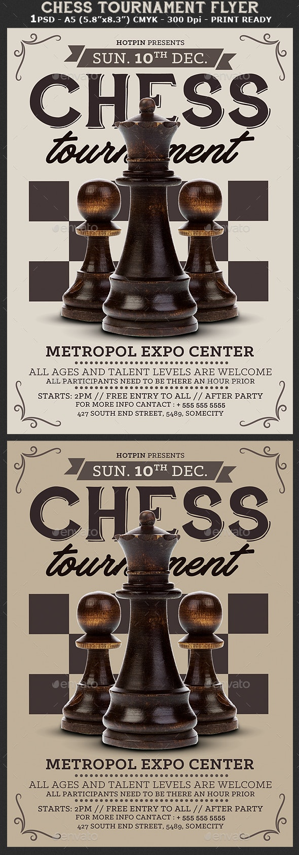Chess Tournament Flyer - Sports Events