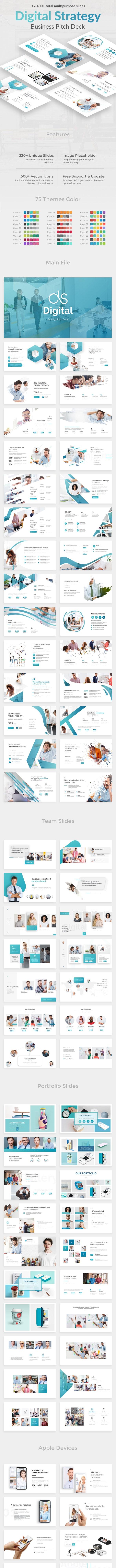 Digital Strategy Pitch Deck Keynote Template - Business Keynote Templates
