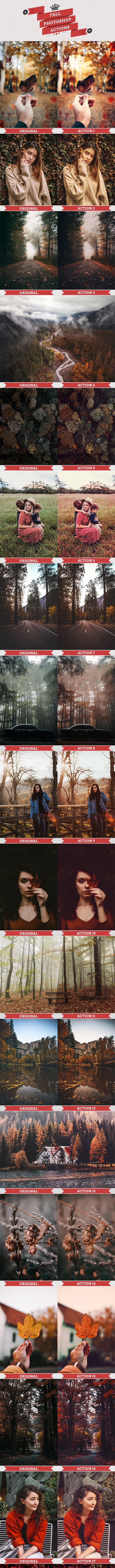Fall Autumn - Photoshop Actions - Photo Effects Actions