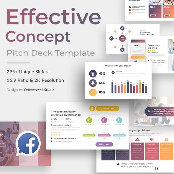 Effective Concept Pitch Deck Powerpoint Template
