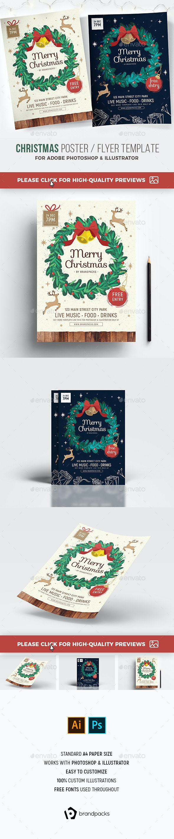 Christmas Flyer / Poster - Holidays Events