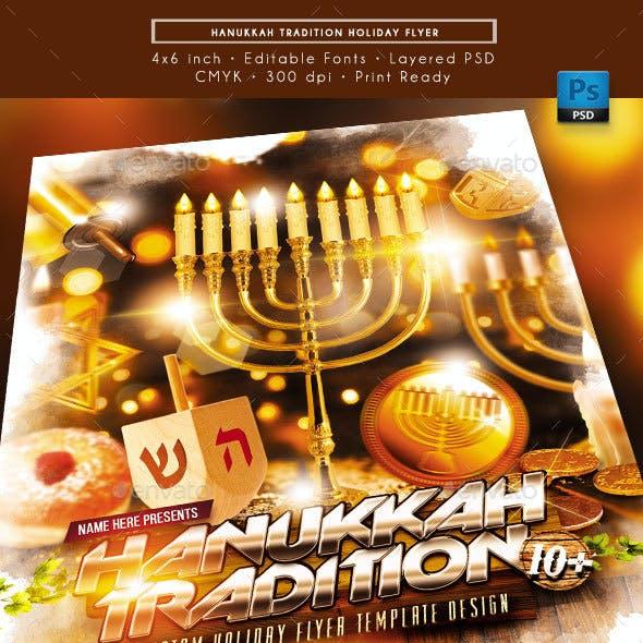 Hanukkah Tradition Holiday Flyer