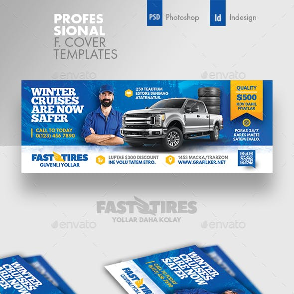 Auto Tires Cover Templates
