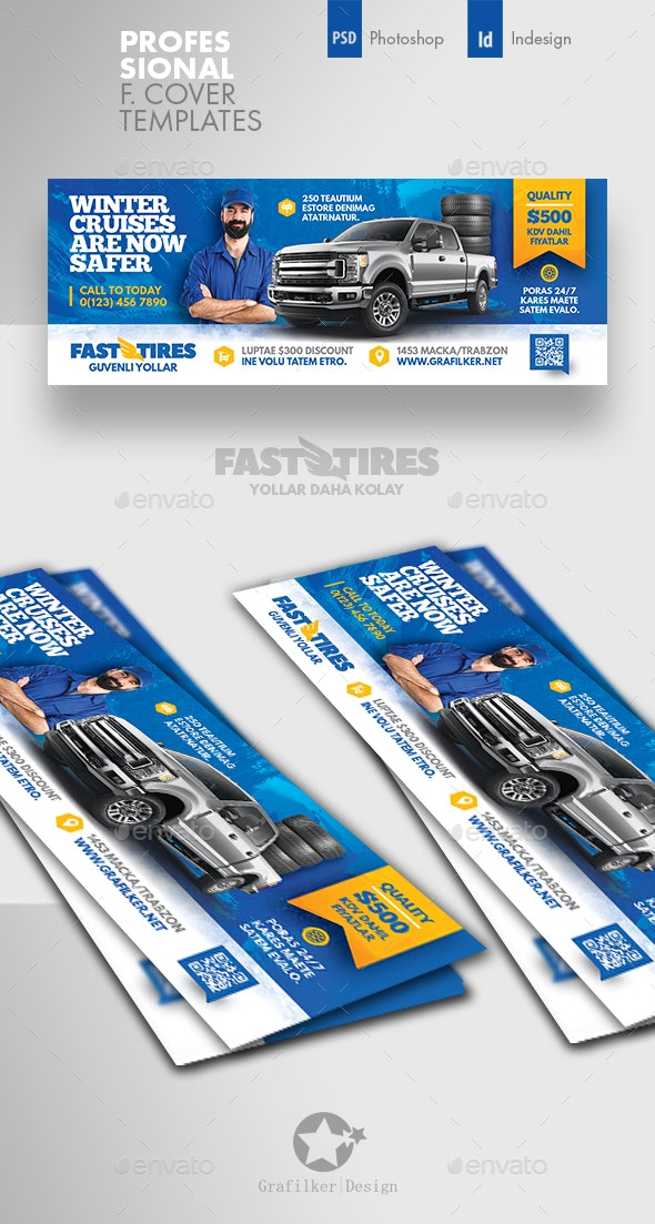 Auto Tires Cover Templates - Facebook Timeline Covers Social Media