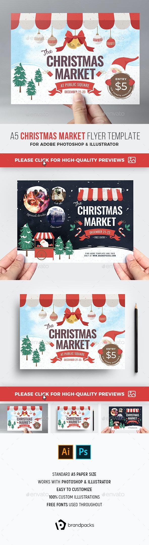 Christmas Market Flyer - Holidays Events
