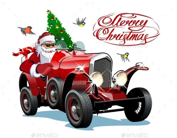 Vector Christmas Greeting Card with Christmas - Christmas Seasons/Holidays