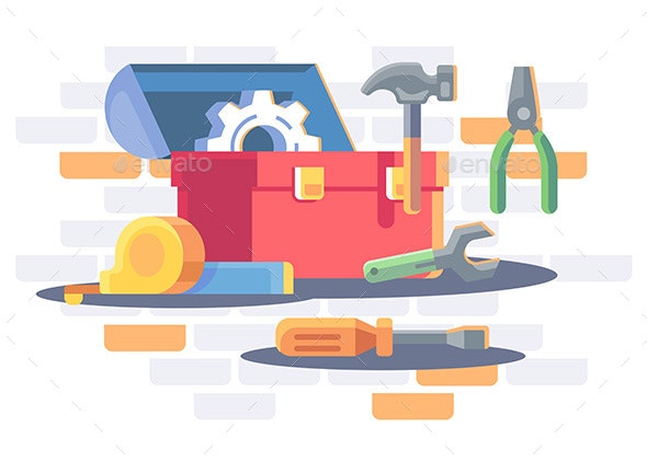 Toolkit with Repair Equipment - Man-made Objects Objects