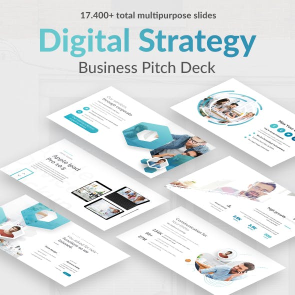 Digital Strategy Pitch Deck Google Slide Template