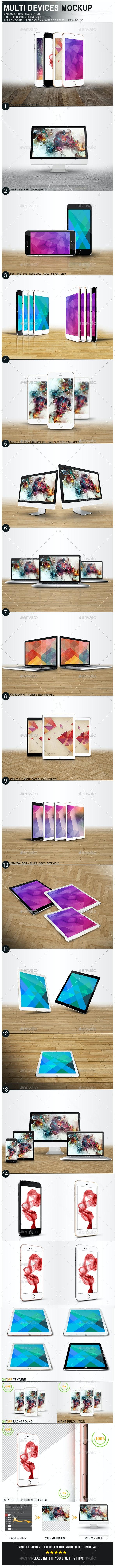 Multi Devices Mockup - Multiple Displays